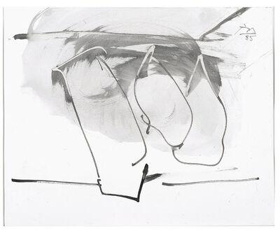Robert Motherwell, 'Untitled (Hollow Men Study)', 1985