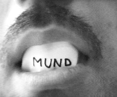 Peter Weibel, 'Mundtext', 1974