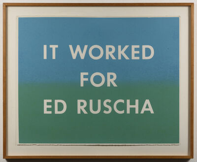 Hugh Brown, 'It Worked For Ed Ruscha', 1979