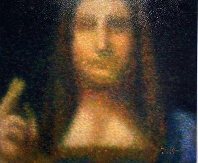 Roldan Manok C. Ventura, 'After Leonardo Da Vinvi (Detail - Salvador Mundi)', 2019