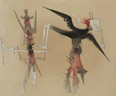 Wifredo Lam, 'Sans titre - XXe siecle plate #4', 1977