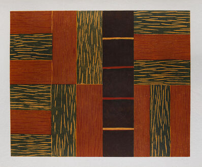 Sean Scully, 'Green Ascending Woodcut', 1991