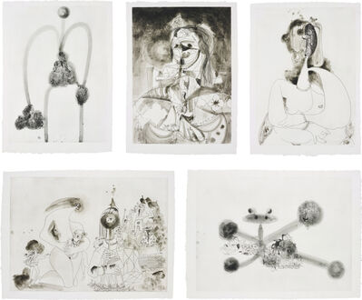 George Condo, 'More Sketches of Spain - for Miles Davis: five plates', 1991