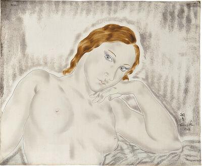 Léonard Tsugouharu Foujita, 'Femme Pensive', 1928