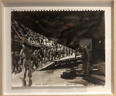 Steve Mumford, 'Prisoners Being Loaded onto C-17, Mosul, Iraq', 2008