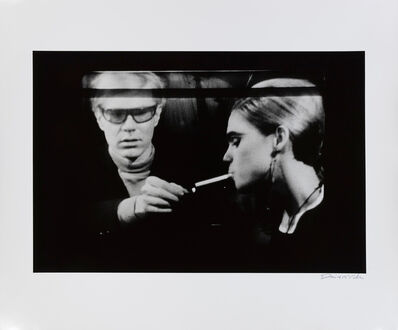 David McCabe, 'Andy Warhol Lighting Cigarette for Edie Sedgwick on a Norelco Monitor, New York', 1965