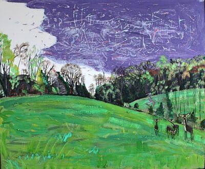 John Borden Evans, 'Four Deer in Spring', 2020