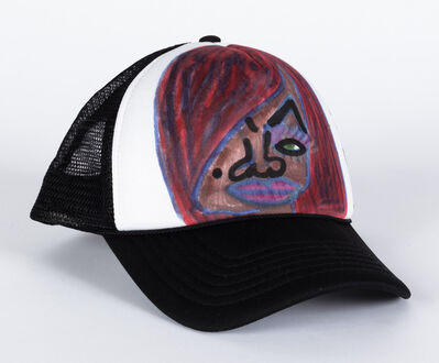 Christina Marie Fong, 'Untitled (Face on Black Trucker Hat)', 2018