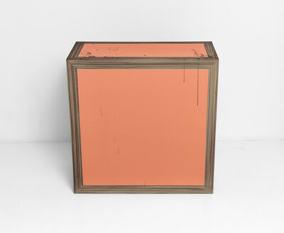 Kaz Oshiro, 'Pedestal (wood/grain/orange)', 2007