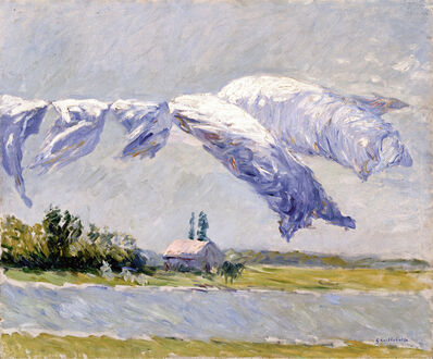 Gustave Caillebotte, 'Laundry Drying, Petit Gennevilliers', 1888