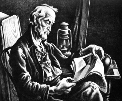 Thomas Hart Benton, 'Old Man Reading', 1941