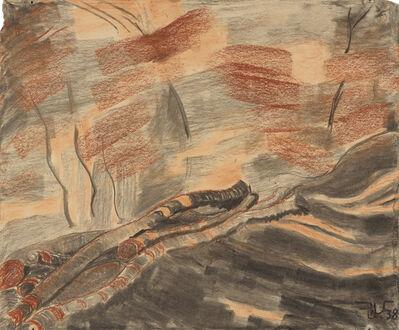 Rudolf Urech-Seon, 'Baumstämme', 1938
