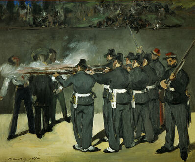 Édouard Manet, 'Oil Sketch for the Execution of Emperor Maximilian', 1867