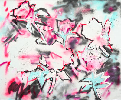 LINGHUI XIE, '粉白黛绿3 Pink white black green 3', 2019
