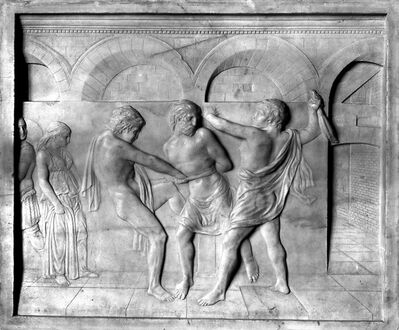 Donatello, 'Geißelung Christi (Flagellation of Christ)', ca. 1430