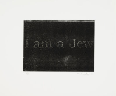 William Anastasi, 'I am a Jew (black)', 1998