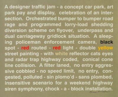 Bruce McLean, 'Designer Traffic Jam - Celebration of an Intersection', 1998
