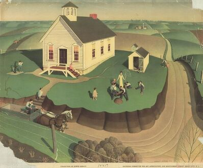 Grant Wood, 'Schoolhouse', 1939