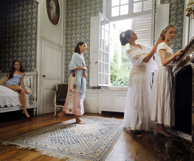 Neil Folberg, 'Young women in Berthe Morisot's home, Mesnil', 2003