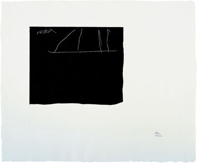 Robert Motherwell, 'Black Flag', 1983