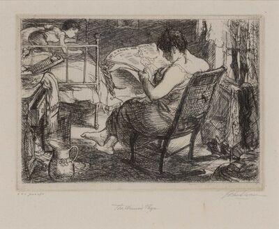 John Sloan, 'THE WOMAN'S PAGE (MORSE 132)', 1905