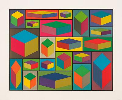 Sol LeWitt, 'Distorted Cubes (C)', 2001