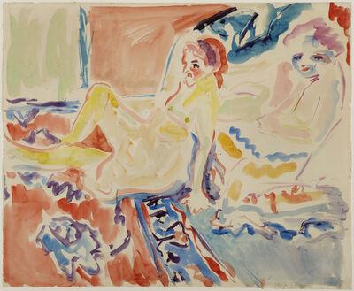 Ernst Ludwig Kirchner, 'Sitzende und Liegende', ca. 1906
