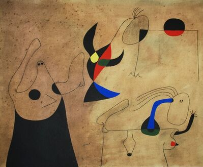 Joan Miró, 'Femmes sur la plage (Women on the Beach), Plate IV', 1959