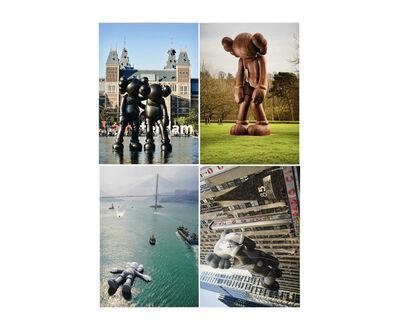 KAWS, 'KAWS x NGV Postcard (Set of 4) (Monumental Sculptures)', 2019