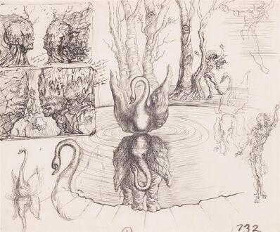 Salvador Dalí, 'Composition Au Cygne et a L'Elephant', ca. 1947
