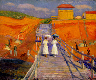 William James Glackens, 'Cape Cod Pier', 1908