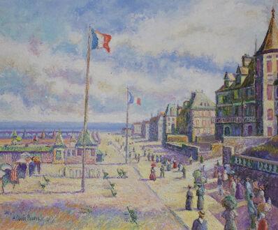 Hugues Claude Pissarro, 'Les Promeneurs de la Plage (Trouville: les Planches)', 21st century