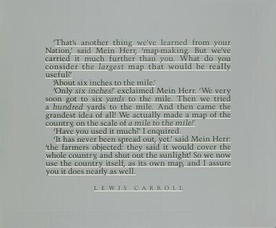 Joseph Kosuth, 'Map to Indicate (E.L., L.C.)', 1992