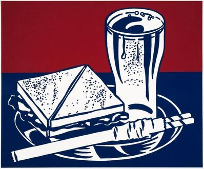 Roy Lichtenstein, 'Sandwich & Soda', 1964