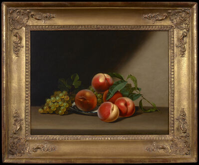 Raphaelle Peale, 'Still Life with Peaches and Grapes', 1822