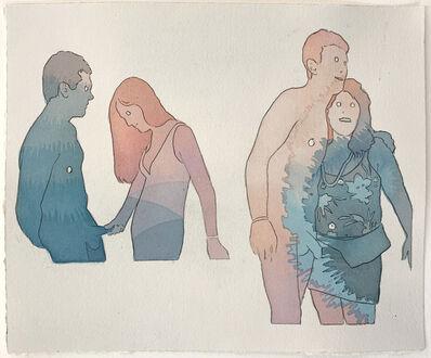 Dan Gluibizzi, '2 nude men', 2017