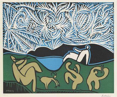 Pablo Picasso, 'Bacchanale avec chevreau et spectateur', 1959