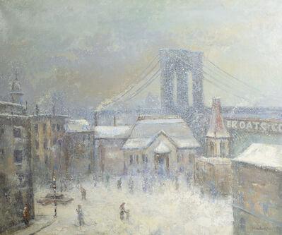 Johann Berthelsen, 'Winter Brooklyn Bridge', Date Unknown