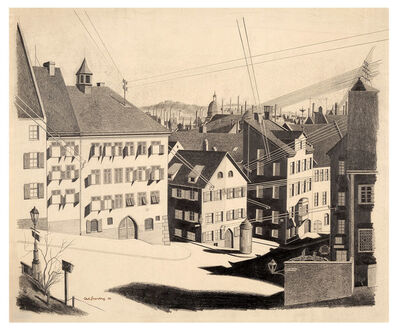 Carl Grossberg, 'Nürnberg, Straße Ölberg', 1926