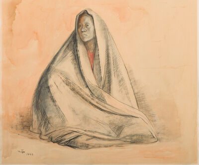 Francisco Zúñiga, 'Untitled (Woman with Shawl)', 1963