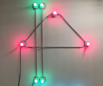 """G.T. Pellizzi, '""""Conduits in Pink and Green""""', 2017"""