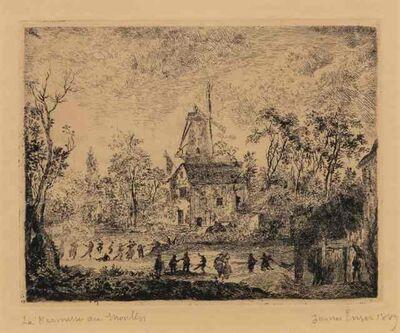 James Ensor, 'La Kermesse Au Moulin', 1889