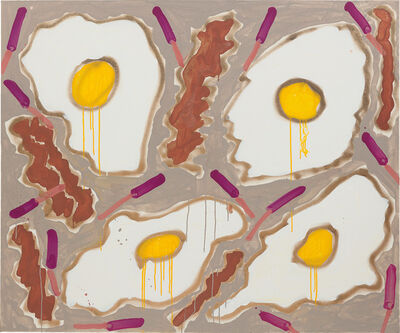 Katherine Bernhardt, 'Bacon + Eggs', 2014