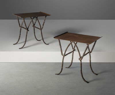 Elizabeth Garouste and Mattia Bonetti, 'A pair of 'Râ' side tables', circa 1986