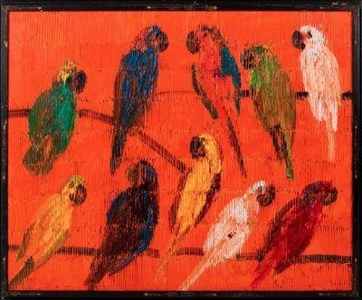 Hunt Slonem, 'Tarantella in Orange', 2020