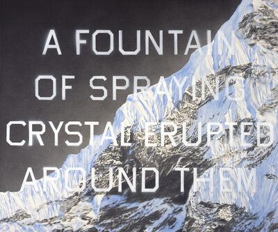 Ed Ruscha, 'Fountain of Crystal', 2009