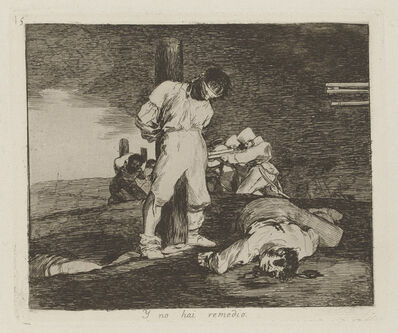 Francisco de Goya, 'Y no hai remedio [And there's no help for it], plate 15', 1811-1812