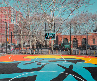 Ludwig Favre, 'New York Basketball Court'