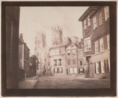 William Henry Fox Talbot, 'A Scene in York—York Minster from Lop Lane', 1845