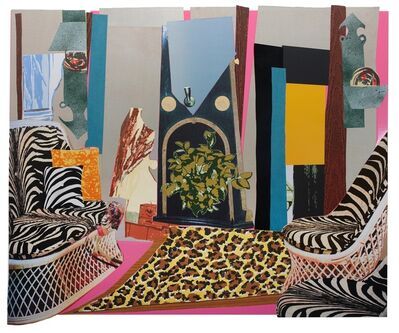 Mickalene Thomas, 'Interior: Zebra with Two Chairs and Funky Fur', 2013